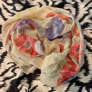 Beautiful sheer floral scarf